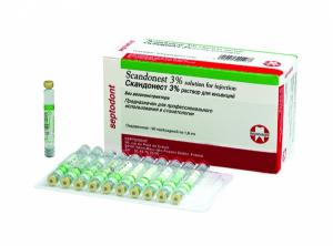 Скандонест 3% (10карпул) /Septodont/