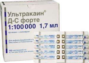 Ультракаин DS 1:200000 (10карпул)