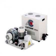 Cattani Turbo-Jet 2 - стоматологический аспиратор для влажной аспирации для 2-х стоматологических установок, с кожухом