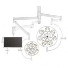 Светильник двухкупольный потолочный Эмалед 500/300/X с консолью для монитора