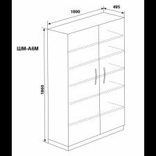 Шкаф двухстворчатый 6 полок (дверца - металлические)