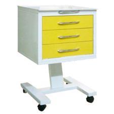 Стол подкатной с 3 ящиками (стекло прозрачное)