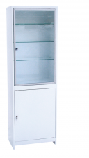 Шкаф медицинский  (ШМС-1-А) ШМС-1 в алюминиевой раме