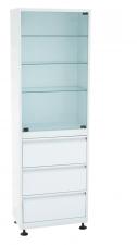 Шкаф медицинский (ШМС-1-Р-3) ШМС-1 с регулируемыми опорами с ящиками