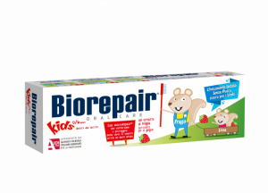Biorepair Kids Strawberry Зубная паста с экстрактом земляники для детей от 0 до 6 лет