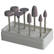 Головки эласт.шлиф.с алмаз.нап.№1(большые формы) 8шт -Целит-